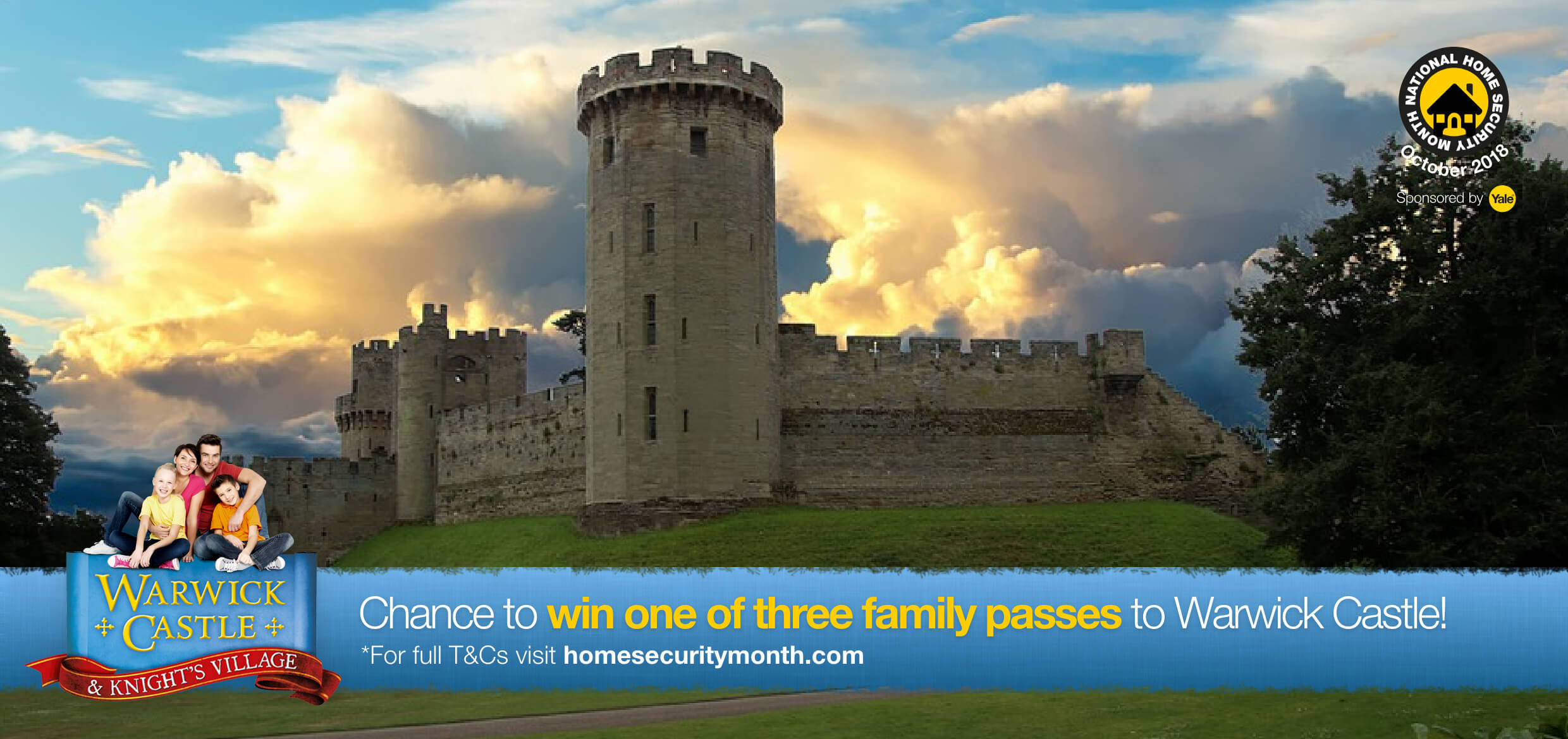 Chance to win! Tickets to Warwick Castle