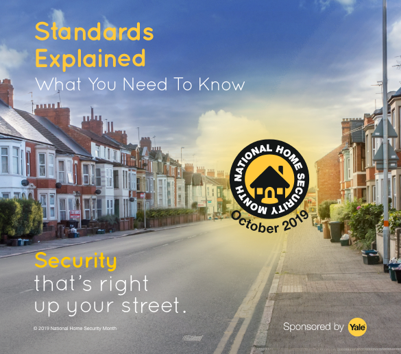 Image of street with text overlay stating security standards explained.