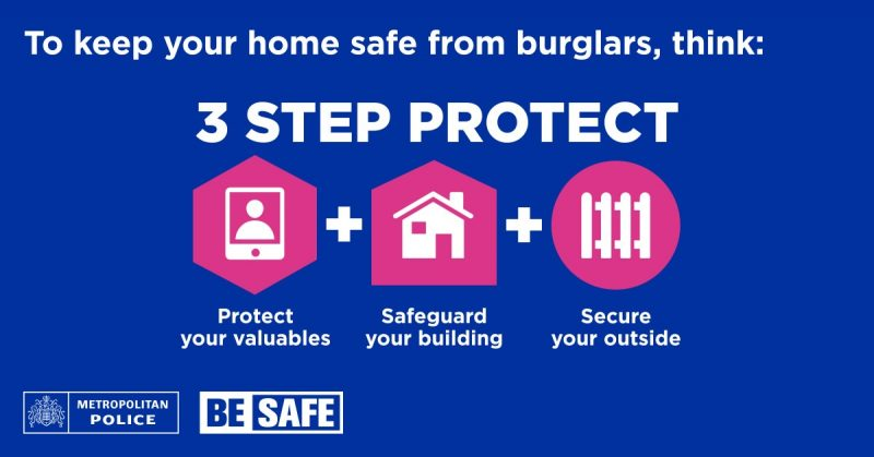 Image from metropolitan police on keeping your home safe.