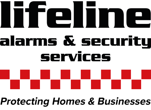 Logo for lifeline alarms and security