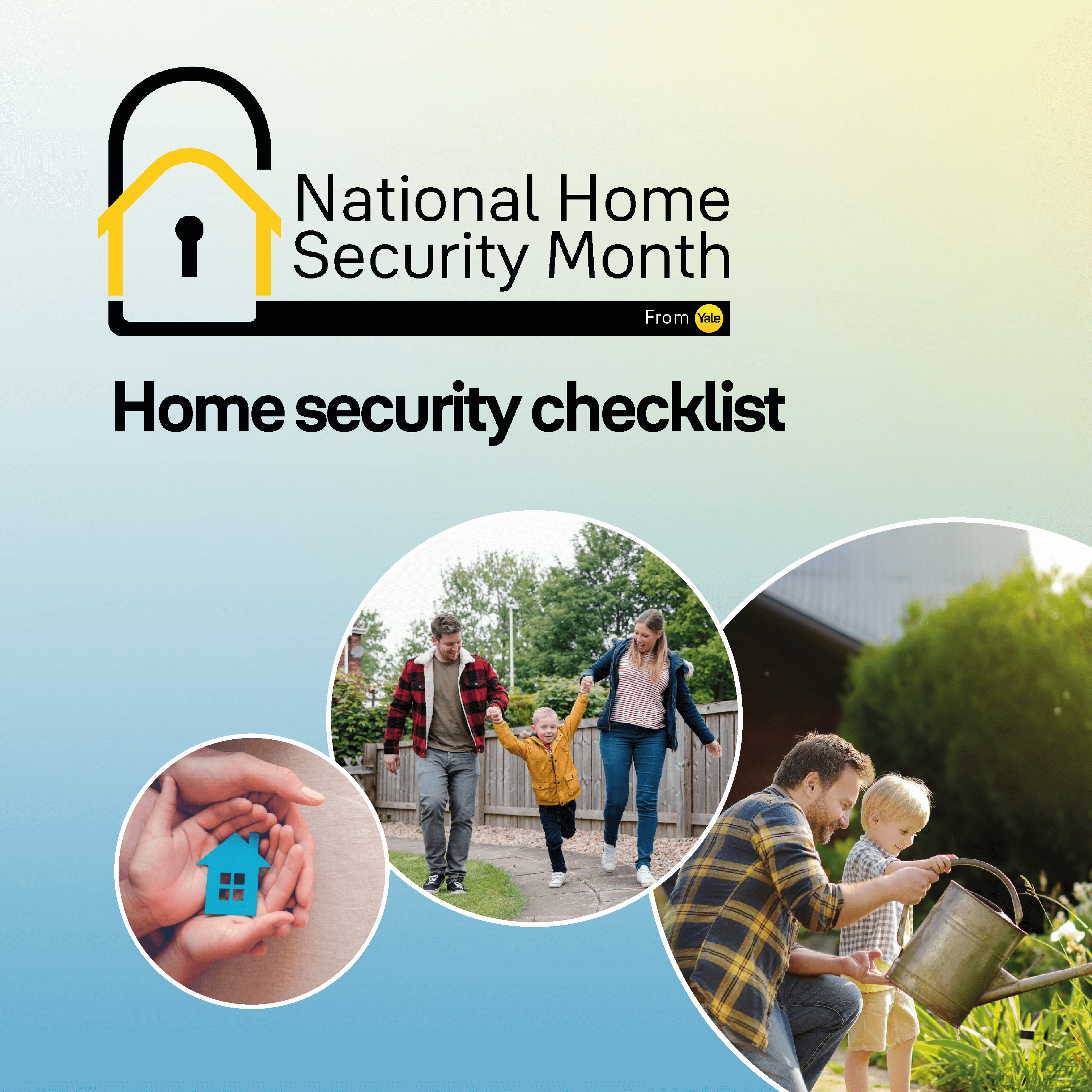 National Home Security Month home security checklist front cover